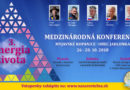 Medzinárodná konferencia Energie života Myjavské kopanice (26.-28.10.2018)